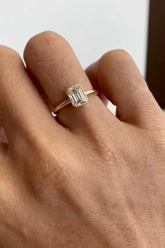 Asher Cut Engagement Rings, Emerald Cut Engagement, Platinum Engagement Rings, Emerald Cut Diamonds, Diamond Cuts, Baguette Ring, Grunge Nails, Psychotic, Wedding Ring Bands