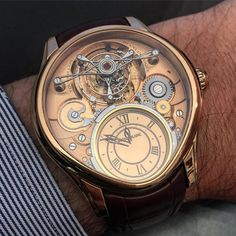 One of the most spectacular Tourbillon! The Mont Blanc Grand Tourbillon Heures Mysterieuses.