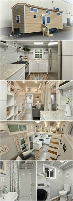 Meet Kate, the 345sf Luxurious Model from Tiny House Building Company - The virginia-based company, Tiny House Building Company, LLC, has released a simple yet gorgeous tiny house called Kate that we can't get enough of! From the outside, you may think this is just another cedar-shake covered boxy tiny house, but you'd be wrong! The inside of this house is unbelievable which is why this lovely lady fetches a price tag of $85,000! #Whybuildashed? #luxurytinyhouse