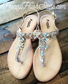 99e068564 Pazzle Rhinestone Sandals