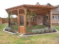 Dog house diy - 55 Inspiring DIY Backyard Projects for Your Pets – Dog house diy Dog Enclosures, Patio Pergola, Screened Patio, Enclosed Patio, Pergola Kits, Backyard Patio, Pergola Design, Patio Bar, Patio Seating