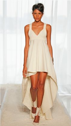 Shroud high-low gown by Katie Gallagher