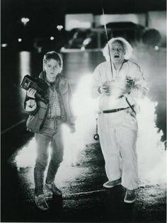 Michael J Fox and Christopher Lloyd