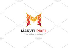Marvel Pixel Letter M Logo Templates Logo Description:Very stylish, clean and modern logo template. This logo is fully vector graphic. T by XpertgraphicD