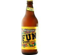 Burgman FUN - Cerveja feita com malte de trigo francês, lúpulo e levedura importados da Alemanha. Uma cerveja naturalmente turva e refrescante, com toques frutados e de especiarias, desenvolvida especialmente para o paladar do brasileiro. É super refrescante e ideal para os dias de calor!
