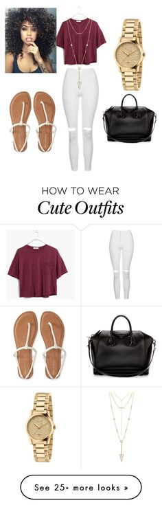 """""""Cute summer outfit"""" by taycarolyn on Polyvore featuring Topshop, Madewell, Aéropostale, Givenchy, House of Harlow 1960 and Gucci"""