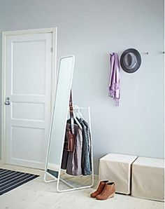 Knapper Floor Length IKEA Mirror with Clothes Storage