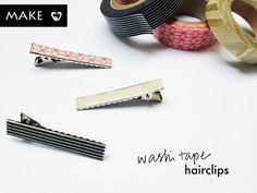DIY :: Washi Tape Hair Clip — Scissors Paper Stone - A Singapore Blog about Creativity