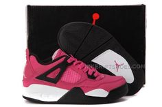 finest selection 46cef bb86c Popular Nike Air Jordan 4 Kids Pink Black