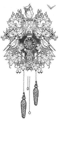 Cuckcoo clock tattoo by ollerina, via Flickr