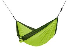 CHILLAX Double Travel Hammock green with Integrated Suspension -- Click image to review more details.