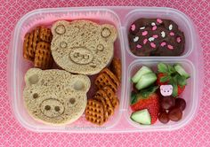 EasyLunchboxes pig pen bento lunch by anotherlunch.com, via Flickr