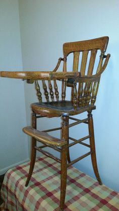 Victorian High Chair Oak High Chair By Abetternest On Etsy