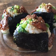 Easy Cooking, Cooking Recipes, Cooking Rice, Onigiri Recipe, Onigirazu, Kimbap, Bento Recipes, Asian Recipes, Ethnic Recipes