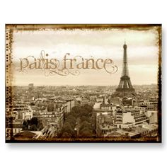 Shop paris france vintage look postcard created by sumners. Personalize it with photos & text or purchase as is! Vintage Paris, French Vintage, Beautiful Paris, I Love Paris, Romantic Paris, Best Vacation Destinations, Best Vacations, Europe Destinations, Photo Postcards