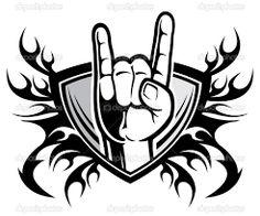 Resultado de imagem para rock n roll symbol