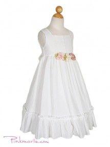 Ivory Crushed cotton Girl Dress