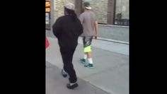 Marshawn Lynch Would Like You to Back Up Off Him, Bro -- Seattle Seahawks running back Marshawn Lynch likes to take a stroll just like a normal person. He does not like it when you follow him, though. Video.