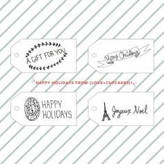 FREE printable holiday gift tags from {love+cupcakes}!