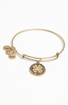 Alex and Ani 'Four Leaf Clover' Expandable Wire Bracelet available at #Nordstrom
