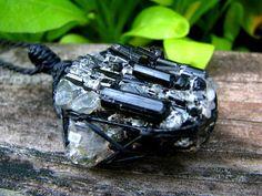 Tourmaline crystal necklace, Schorl, Tourmaline Necklace,  black Tourmaline pendant , Healing Crystal necklaces, earthauracreations