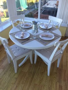 Ikea Ingatorp Table Ikea Ingatorp Extendable White Round Dining Room Table And 4