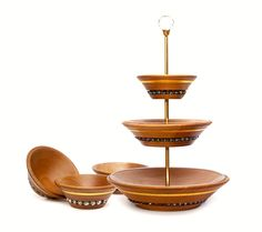 Luxury serving stand set Kasida Oase is beautifully handcrafted from premium quality central European Cherry wood with fine detail and smooth finish. Hand gilded with 24-karat Gold and decorated with radiant Czech cut crystal they offer a truly Unique dining experience.  #dinnerware #cakestand #luxurycake #gourmet #lifestyleconcierge #luxurymanagement #personalshopper #gifrtsforrich #elite Wooden Gift Boxes, Wooden Gifts, Luxury Cake, Cake Servings, Everyday Items, V60 Coffee, Crystals And Gemstones, Dinnerware, Coffee Maker