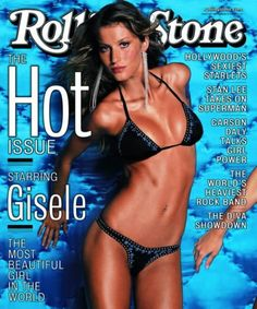 'I don't wear transparent,' Gisele told the magazine. 'If the designers ask me to wear see-through, I say no. I simply won't do it. I don't feel comfortable about people seeing my nipples.'