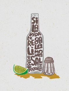 Si la vida te regala limones píde sal y tequila | Crie seu quadro com essa imagem https://www.onthewall.com.br/novidades/si-la-vida-te-regala-limones-2