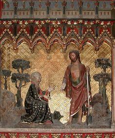 Magdalena ( noli me tangere) Relleu del rerecor de Notre Dame de Paris s. Noli Me Tangere, France, Notre Dame, Saints, Easter, Painting, Art, Spring, Mary Magdalene