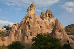 Hotels carved into caves in Turkey. Amazing.