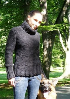 Hand made knitted super worm pullover with super long by Fischerka, $80.00