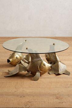 Koi Coffee Table - Bronze, at Anthropologie.