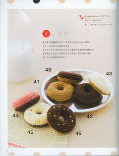 FREE Crochet Donuts Pattern and Tutorial (click on arrow to get to free chart)