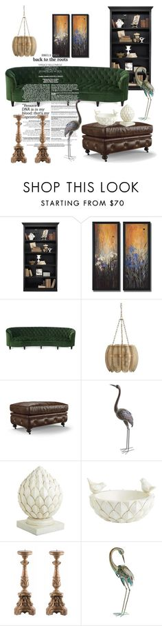 """""""Untitled #310"""" by liiiilylove ❤ liked on Polyvore featuring interior, interiors, interior design, home, home decor, interior decorating, Ballard Designs, Old Hickory Tannery, Arteriors and Pier 1 Imports"""