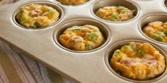 Muffin tin your breakfast with these portable ham casseroles.