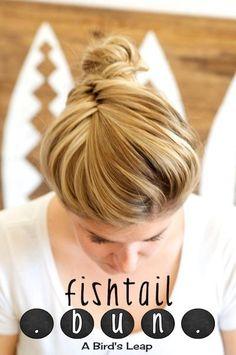 DIY Fishtail Bun