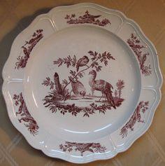 Wedgwood creamware plate, circa 1780.