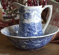 66 Best Antique Pitcher Amp Bowl Images On Pinterest Bowl