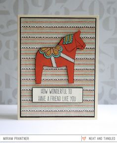 March 2015 Release Day 2: Introducing Scandinavian Flowers   Dala Horse   Coordinating Dies!  - Products and inspiration from Neat And Tangled: http://neatandtangled.blogspot.com/