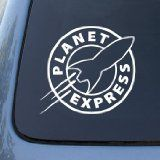 PLANET EXPRESS - Futurama - Vinyl Decal Sticker #A1458 | Vinyl Color: White