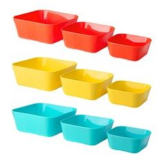 SOMMARFINT Serving bowl, set of 3 - IKEA