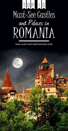 Are you looking for the most amazing catles in Romania? Here is a Top 10 Must-see Castles and Palaces in Romania you must visit. Europe Destinations, Europe Travel Tips, European Travel, Budget Travel, Honeymoon Destinations, Romantic Vacations, Dream Vacations, Cool Places To Visit, Places To Travel