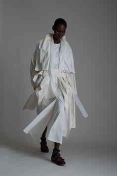 // Vintage J.C. de Castelbajac Coat, Rick Owens Top, Yohji Yamamoto Skirt and Givenchy Scarf