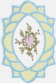 Free embroidery motive for table cloth. Machine embroidery design. www.embroideres.com