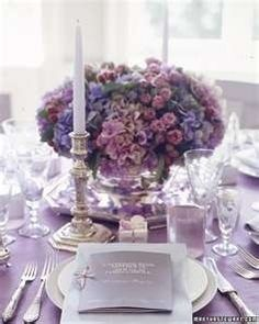 wedding ideas-table centerpieces-love these colors but add white roses, orange tiger lilies & ivy on the sides