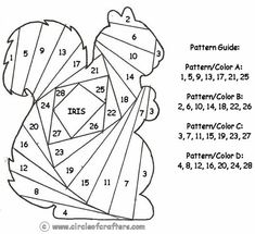 IRIS folding patterens | Iris Folding @ CircleOfCrafters.com: Squirrel Pattern