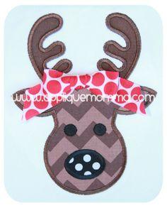 Reindeer 2 Applique Design