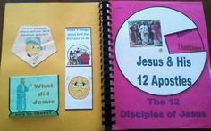 Bible Class Lapbook/Workbook The 12 Disciples of Jesus pages
