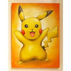 Pikachu, Pokemon, Catch them all, Original Art, Pokémon, Oil on... (375 PLN) via Polyvore featuring home, home decor, wall art, canvas home decor, canvas oil paintings, canvas painting, canvas wall art i oil painting